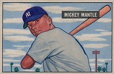 1951 Bowman Mantle rookie card