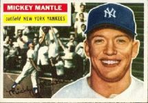 1956 Topps mickey mantle card