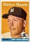 1958 Topps mickey mantle card